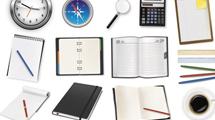 Objetos de oficina y Post-Its