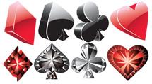 Objetos relacionados al poker: símbolos y fichas
