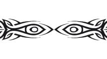 Ojos tribales en negro
