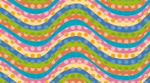Ondas de colores con puntos