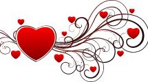 Ornamento de San Valentín