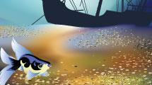 Paisaje con fondo submarino