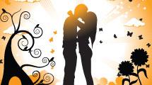 Paisaje con pareja