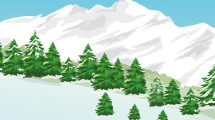 Paisaje nevado con arboleda