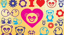 Pandas a colores