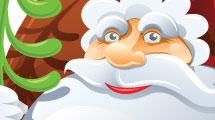 Papá Noel con árbol