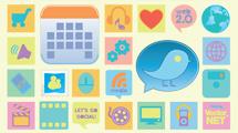 Paquete de iconos en tonos pastel simples