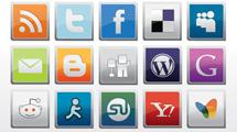 Paquete de medios sociales cuadrados