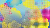 Paquete de motivos halftone en colores