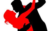 Paquete de siluetas de parejas bailando