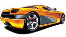Paquete de vectores mostrando coches deportivos variados