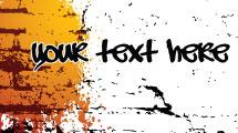 Pared de ladrillos para texto