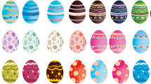 Pascuas: Gran paquete con huevos de pascua en varios diseños