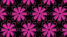 Patrón con flores fucsias