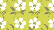 Patrón con flores silvestres
