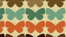 Patrón con mariposas