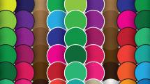 Patrón: círculos multicolores