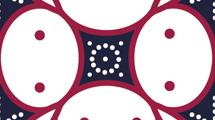 Patrón estilo batik en rojo y azul