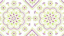 Patrón Verde y Violeta