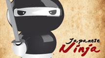 Pequeño ninja con katana