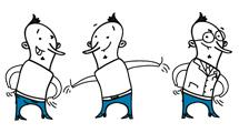 Personaje con pantalón azul