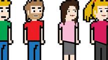 Personajes 8-Bit femeninos y masculinos