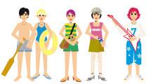 Personajes coloridos