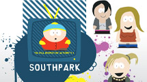 Personajes de Southpark con manchas detrás