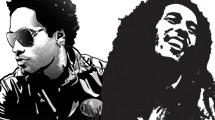Personajes famosos en negro