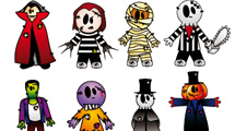 Personajes y decoración de Halloween