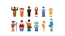 Personas pixeladas