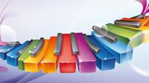 Piano de colores