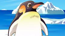 Pinguino de perfil