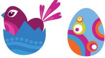 Pollos y huevos de Pascua