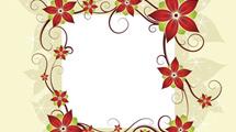Postal con motivo floral decorativo