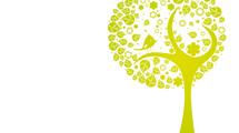 Árbol abstracto con ave