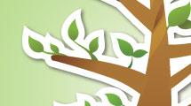 Árbol abstracto con borde
