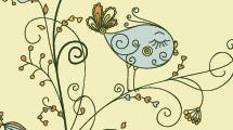 Árbol abstracto con flores y un ave