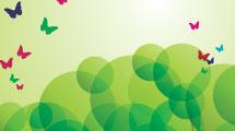 Árbol abstracto con mariposas