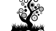 Árbol abstracto de círculos