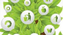 Árbol con iconos ecológicos
