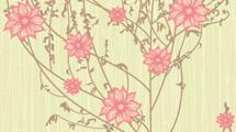 Árbol de flores rosadas con lineas de fondo
