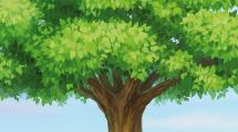 Árbol realista en campo