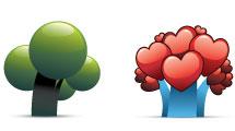Árboles con formas