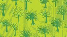Árboles grunge verdes