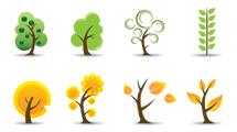 Árboles y hojas