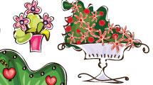 Árboles y macetas