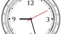 Reloj gris y blanco