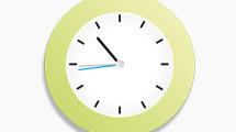 Reloj simple con marco verde