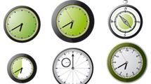 Relojes analógicos verdes